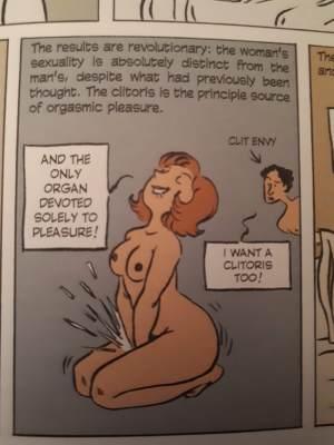 La più grande scoperta dell'umanità? La clitoride! (pagina del fumetto)