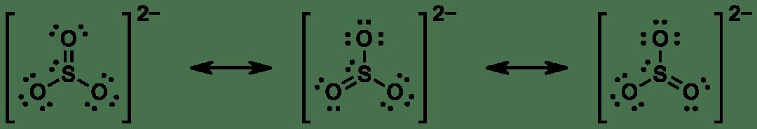 Lewisin kaavat: sulfiitti-ioni