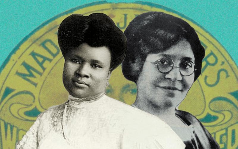 Colagem - Madam C. J. Walker e Annie Malone, por Paloma Engelke