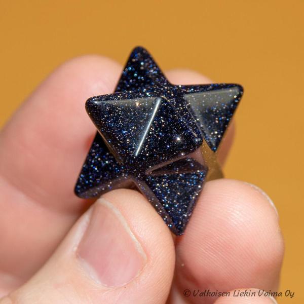 Tähtilapsen koti-ikäväkivi. Merkaba sininen hiekkakivi