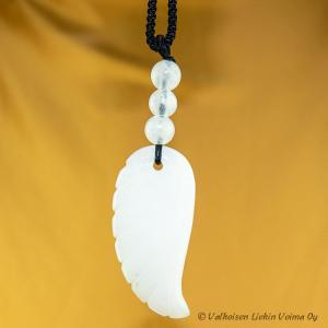 Arkkienkeli Christielin valkoinen jade enkelinsiipi