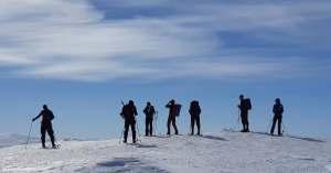 keväinen hiihtovaellus muotkalla