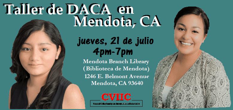 Taller de DACA en Mendota el 21 de julio 2016