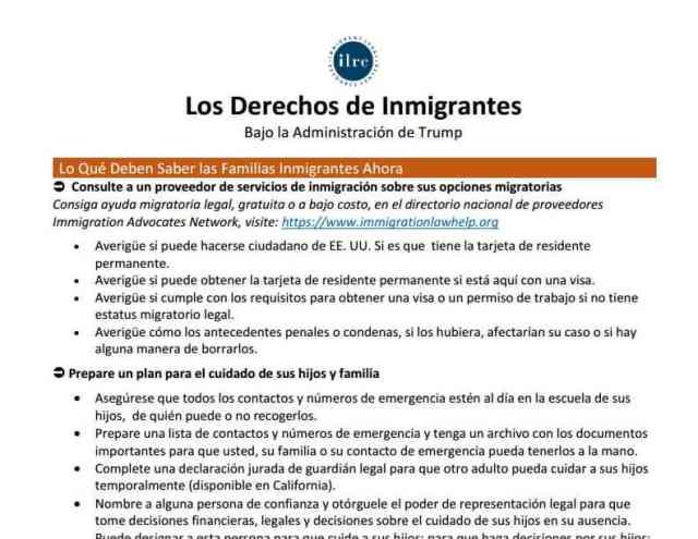 Derechos de los Inmigrantes Bajo Trump: Como Proteger a su Familia