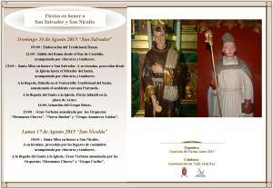 Programa San Salvador y San Nicolas Arure 2015