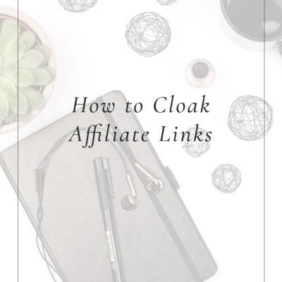 How to Cloak Affiliate Links