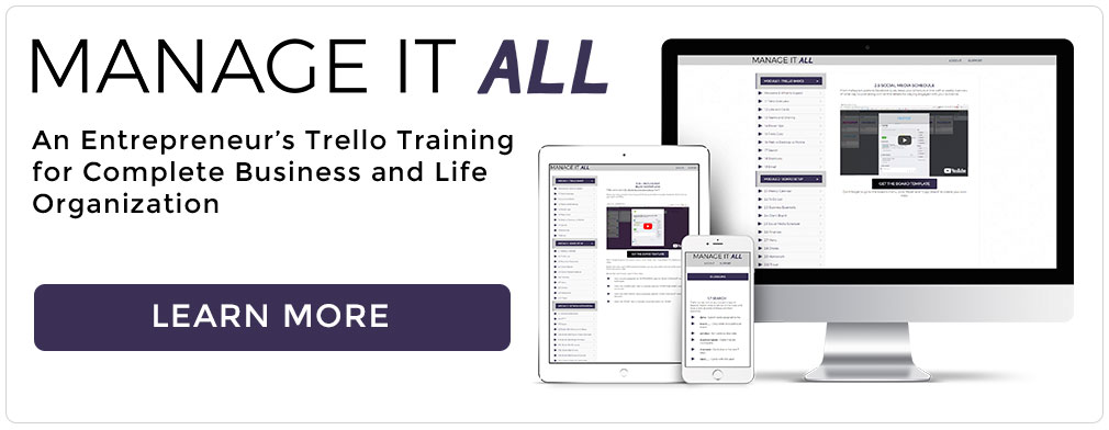 Manage It All Trello Training