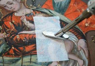Restauro del dipinto Sacra Famiglia – 24 febbraio