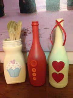 Bottles and jar