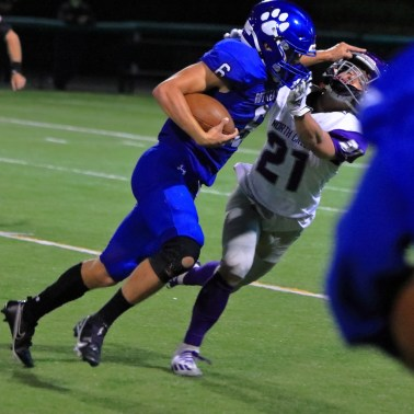 Bryce Kooy continues to stiff arm Tanner Fialdini
