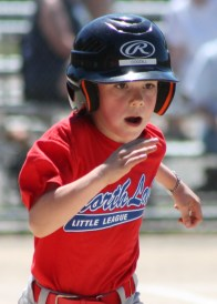 Cameron running the hard 60 (feet to first base)