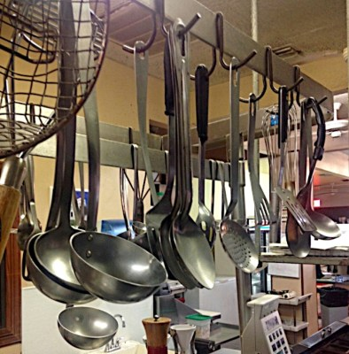Milano's large kitchen is equipped with utensils used to prepare food for decades. (VBR)