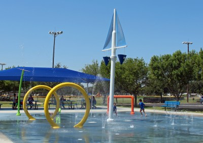 The Valley's newest splash pad in Weslaco cost about $500,000 to build. (VBR)