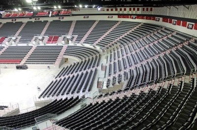 The view from the third seating level shows some of the seating for more thatn 9,300 people. (VBR)