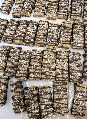Protein bars made with dark chocolate are Monza's newest product. (VBR)