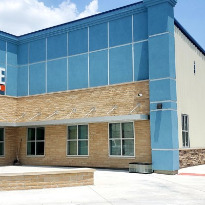 The front entrance of the new 43,000-square-foot Jubilee Harlingen