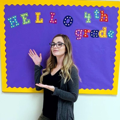 Courtney Jones, creator of #clearthelists, is now in her third year of teaching.