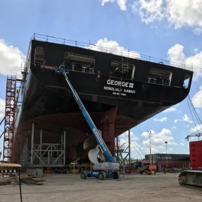 Delivery of the M/V George III to Pasha Hawaii from Keppel AmFELS is scheduled for this summer.