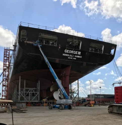 Delivery of the M/V George III to Pasha Hawaii from Keppel AmFELS should take place this summer.