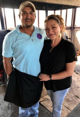 Michael Guerrero and Cissy Infante Guerrero own Tucker's Barbecue along with Cissy's brother, J.R.