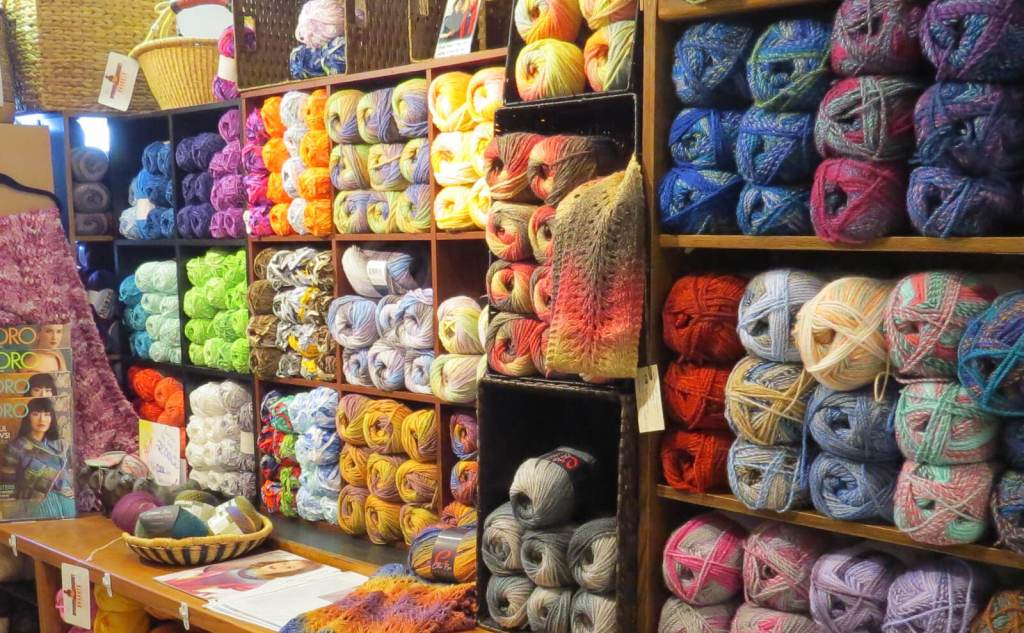 Yarn, handmade items, and a variety of other products are available in the Baa Baa Boutique at The Lamb's Loom in McAllen.