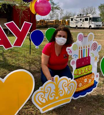Araceli Covarrubias of RGV Yard Cards has spread joy throughout Hidalgo County over the last year.