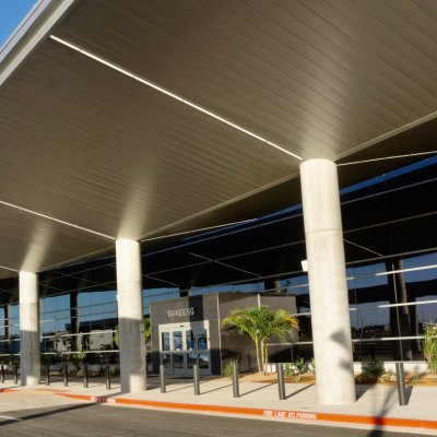 The sleek new terminal at Brownsville/South Padre International Airport (Courtesy, Alan Hollander, Tequila Group)