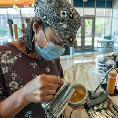 Reserva Coffee Roasters begins a new chapter, opening at the UTRGV School of Medicine's Team-Based Learning Center in Edinburg. (photo Paul Chouy, UTRGV)
