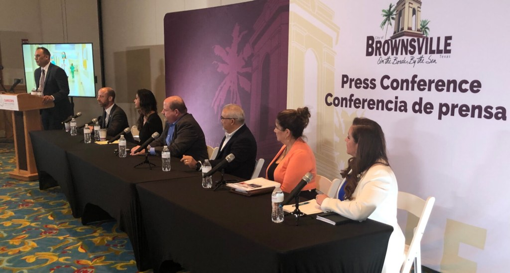 City and private sector employers gather to announce a jobs expo coming up in Brownsville on June 28.