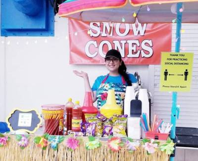 Eliza Garza's dad ignited a flame inside her when she was 16 by telling her South Padre Island needed a snow-cone stand. Garza fueled that flame when she opened Beachside Snow Cones at the Beach Resort at South Padre Island Memorial Day weekend 2020.