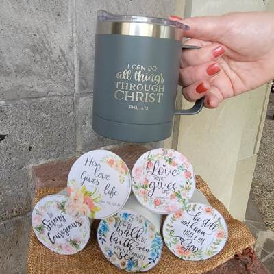 This themed mug is part of each premier Overflow of Blessings Box.