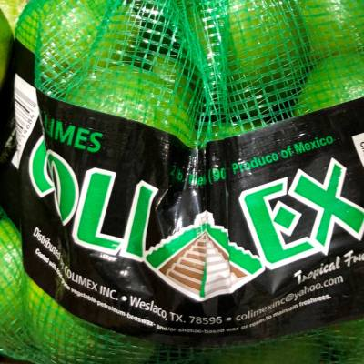 Bags of Mexican-grown limes from ColiMex are available throughout the United States.