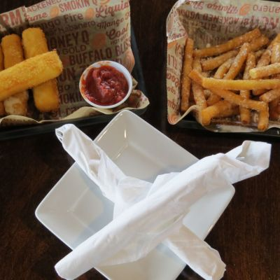 Homemade mozzarella sticks and funnel cake fries are popular menu items at Wing Zone.