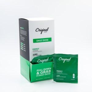 Energy CBD Capsules by Original Hemp (25mg) | Daily Dose