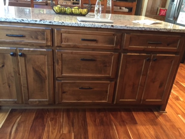 White Stained Knotty Alder Cabinets