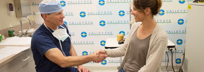Dr. Vrabec greeting patients