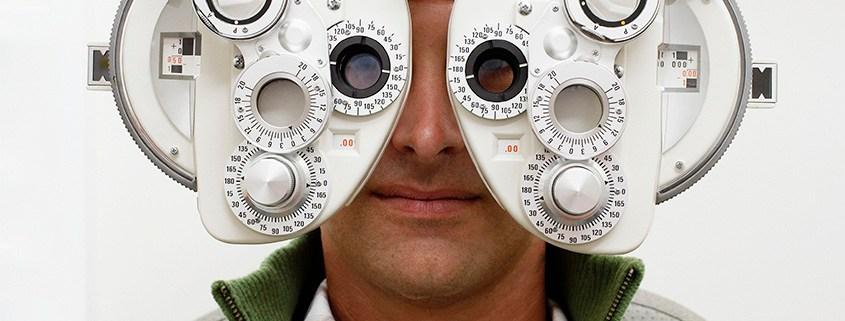 Man undergoing an eye exam