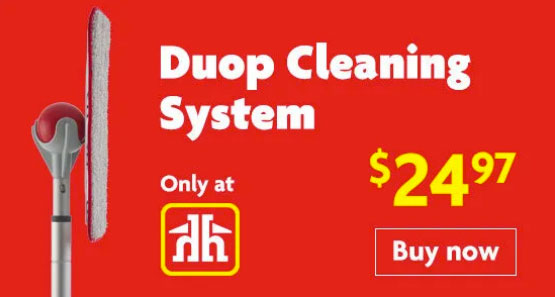 The best mop in Canmore, the Duop cleaning system, Valley Home Building Centre.