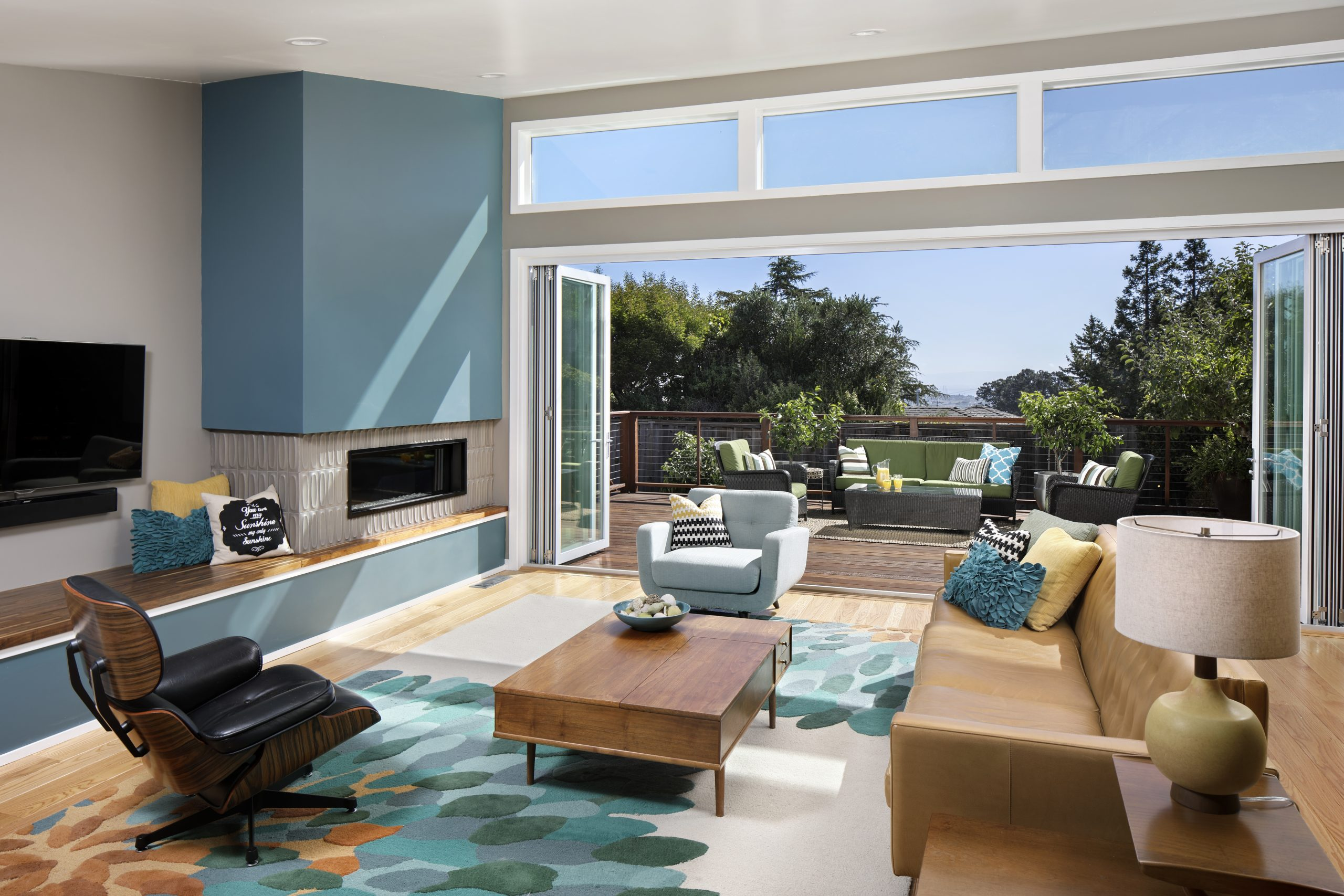 A modern living room in Los Altos California