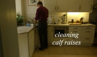 cleaning calf raises