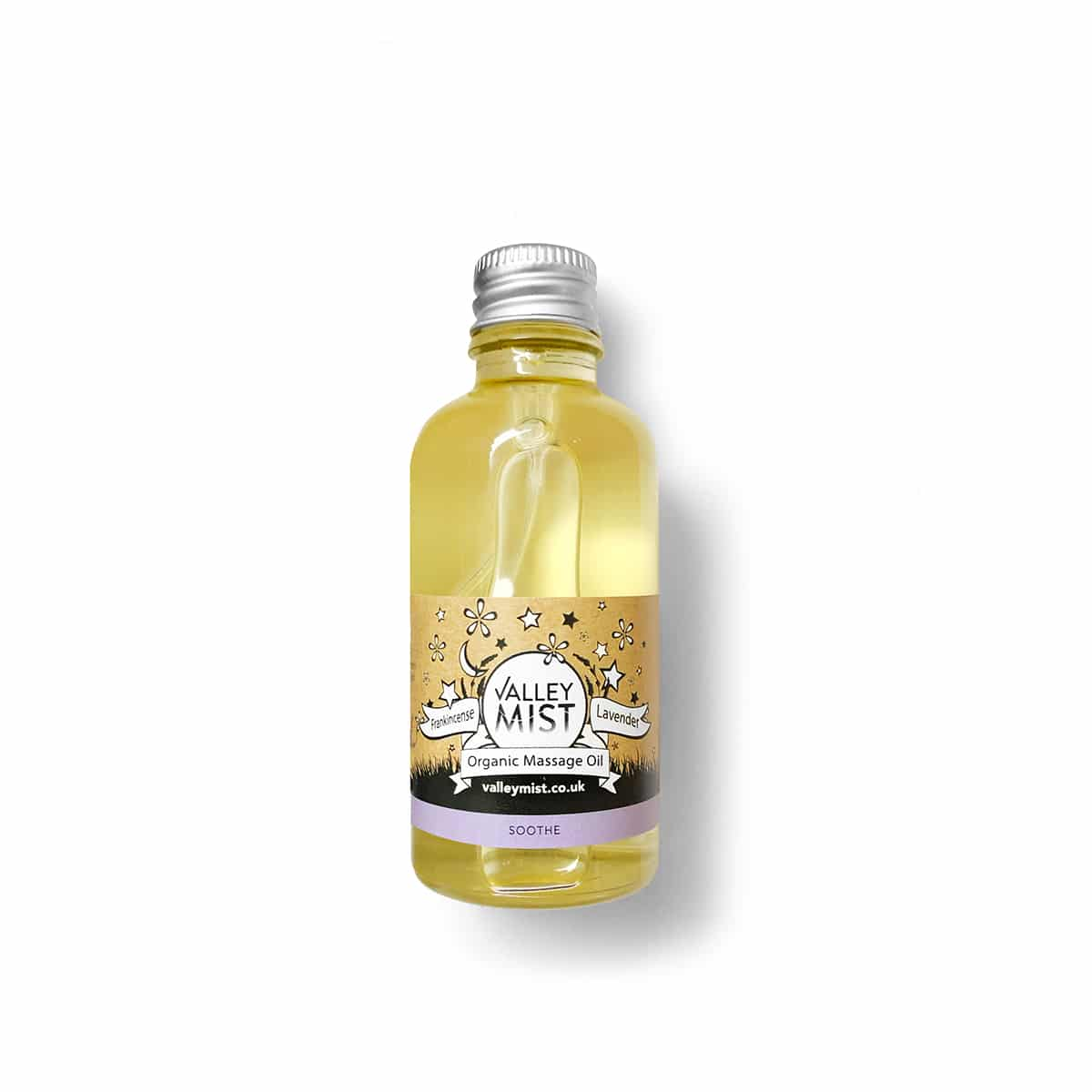 organic massage oil for babies with soothing frankincense and lavender