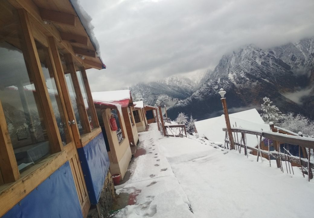 Blue Poppy Resorts, Auli in winters