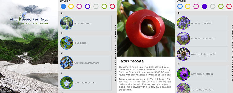 Valley of flowers app for iOS and Android
