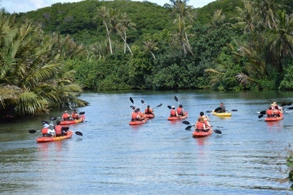 Adventure Kayaking along the Talofofo River. Valley of the Latte Adventure Park.