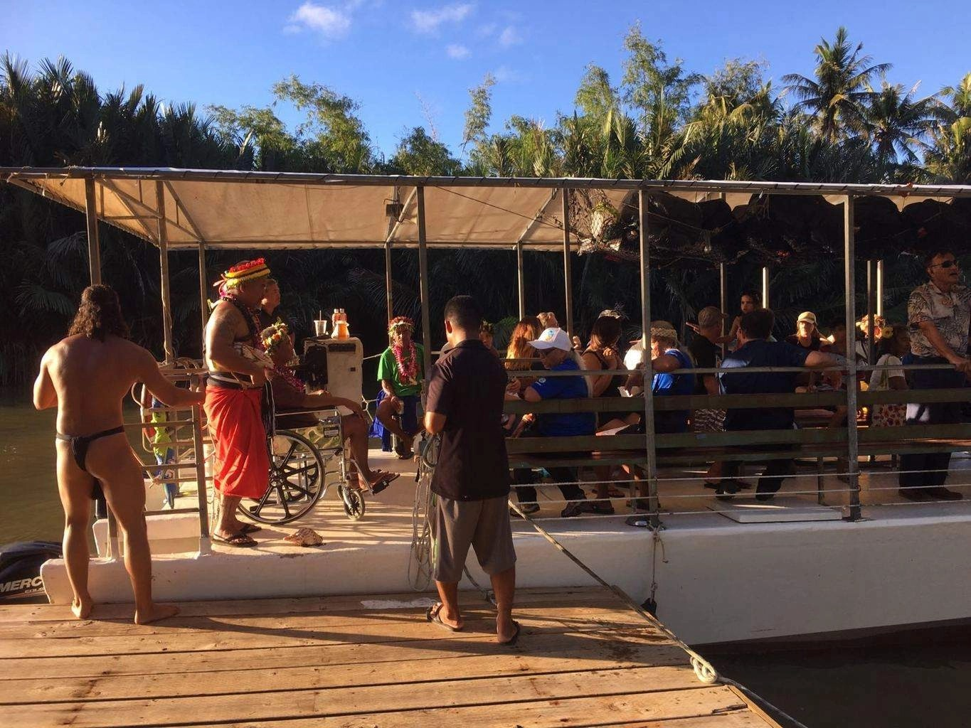 Valley of the Latte and Ulitao welcome master navigators from Yap and Hawaii. Matson Navigation