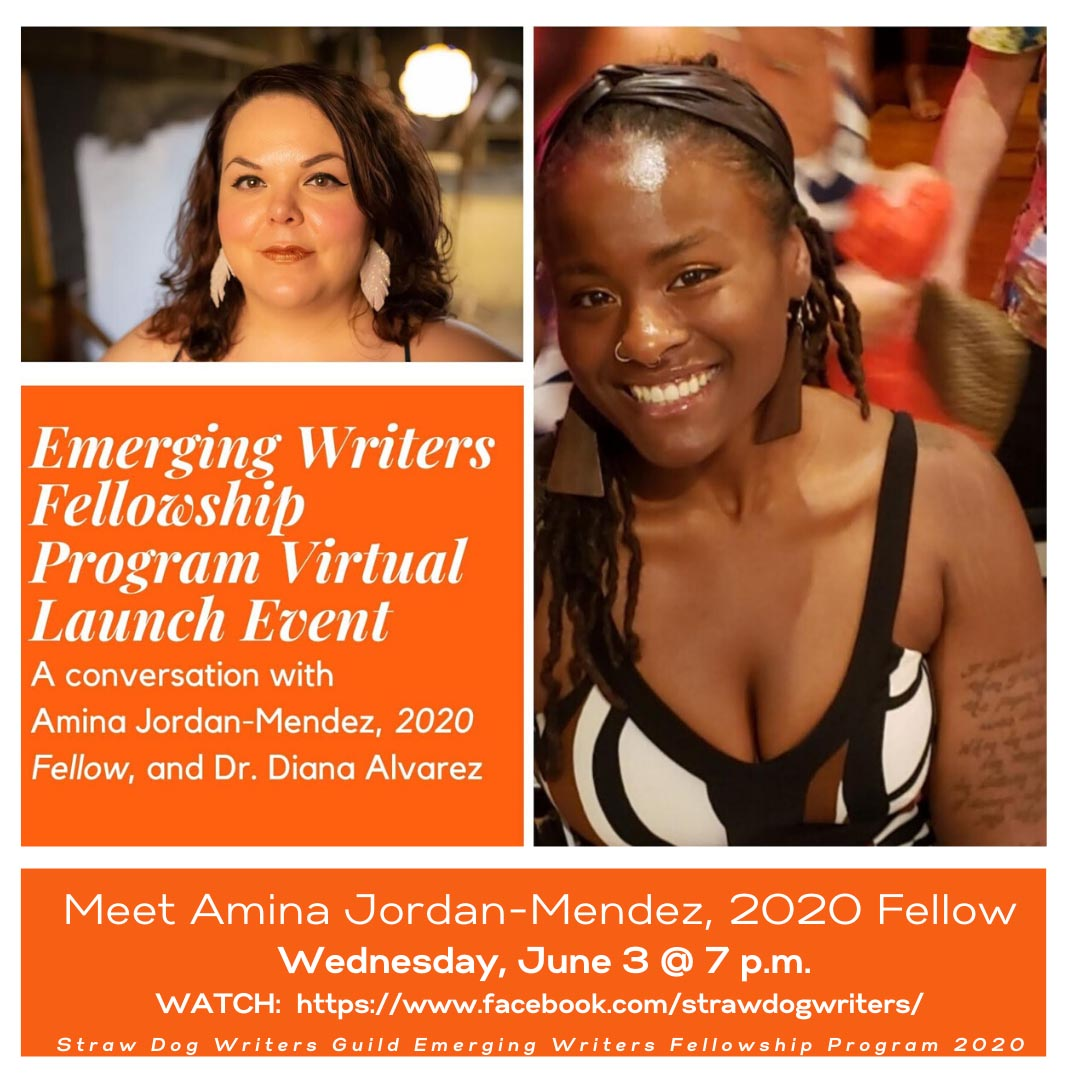 Straw Dog Writers Fellowship Virtual Launch Flyer