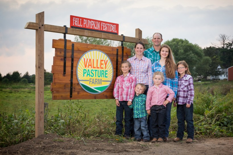 Family at Valley Pasture Farm