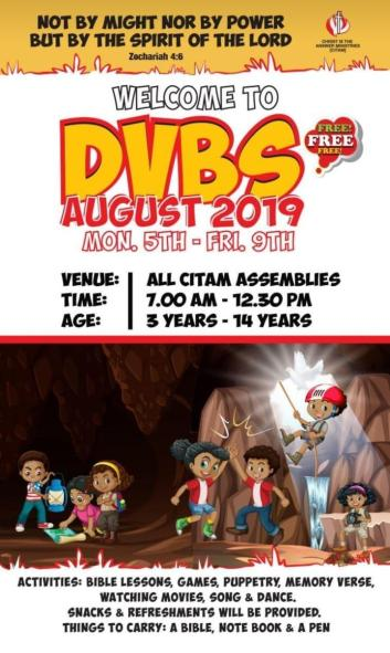 Daily Vocational Bible Study (DVBS) 2019