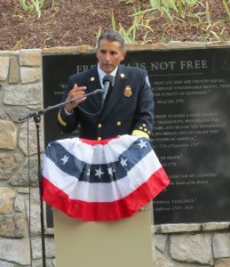 Paige Meyer, San Ramon Valley Fore Protection district Chief speaks at 911 Remembrance ceremony