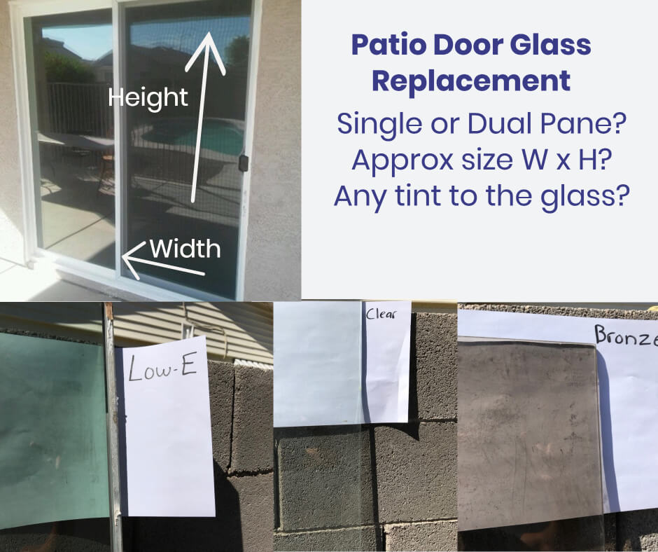 can you replace patio door glass the